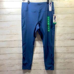 NWT Mondetta High waist Active leggings Sheer Trim